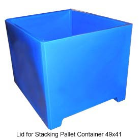Bayhead DWP-37-LID-BLUE Lid For Stacking Pallet Container 49x41 Blue