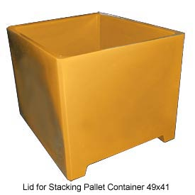 Bayhead DWP-37-LID-YELLOW Lid For Stacking Pallet Container 49x41 Yellow
