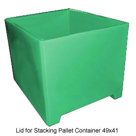 Bayhead DWP-37-LID-GREEN Lid For Stacking Pallet Container 49x41 Green