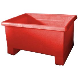 Bayhead TEX-24RED Stacking Plastic Container 32x24x18 600 Lb Cap. Red