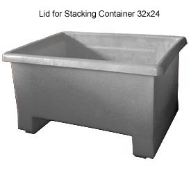 Bayhead TEX-LIDGRAY Lid for Stacking Container 32x24 Gray