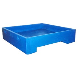 Bayhead DWP-11BLUE Stacking Plastic Container 45x45x11 600 Lb Cap. Blue