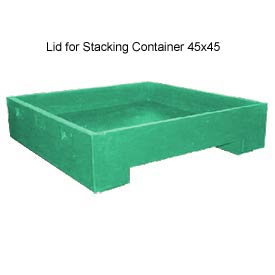 Bayhead DWP-11-LIDGREEN Lid For Stacking Container 45x45 600 Lb Cap. Green