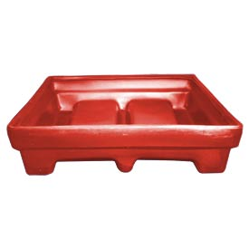 Bayhead MMPC-1RED Low-walled Container 61x51x15 1000 Lb Cap. Red