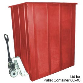 Bayhead LMM-LIDRED Lid For Pallet Container 60x46 Gray 1500 Lb Cap. Red