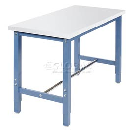 "48""W x 24""D Production Workbench Return - ESD Laminate Square Edge - Blue"