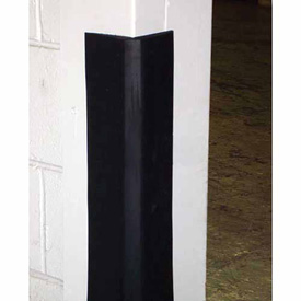 Durable Black Rubber Corner Guard CG-2, Sold per Foot up to 10 Foot Length Maximum