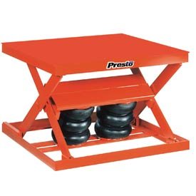 PrestoLifts™ Air Bag Pneumatic Scissor Lift Table AX10-4848 1000 Lb. Cap.