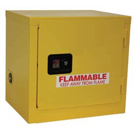 "Global™ Slim Flammable Cabinet BJ6 - Self Close Single Door - 6 Gallon - 23""W x 18""D x 22""H"