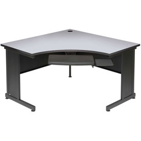 "Interion™ 48"" Corner Desk Gray"