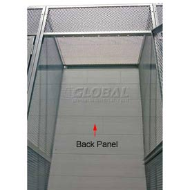 "Hallowell 4704890PL Bulk Storage Locker Back 48""Wx90""H"