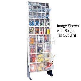 """Quantum Tip Out Bin Floor Stand QFS170-36- Single Sided 70"""" H White"""
