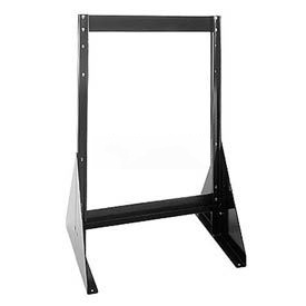 "Quantum Doubled Sided Floor Stand QFS224 for Tip Out Bins - 24""H"