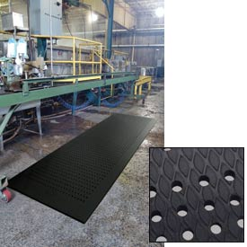 Cushion Max Anti Fatigue Drainage Mat 36 x 144 Black