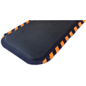 "Hog Heaven Anti Fatigue Mat 5/8 Thick 48"" W Orange Border from 3 Ft up to 60 Ft"