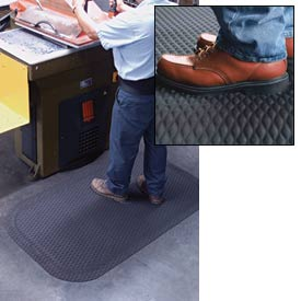 "Hog Heaven Anti Fatigue Mat 7/8"" Thick 24"" W Black from 3 Ft up to 60 Ft"