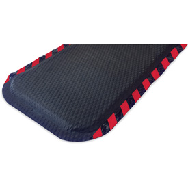 "Hog Heaven Anti Fatigue Mat 7/8"" Thick 33"" W Red Border From 3 Ft up to 60 Ft"