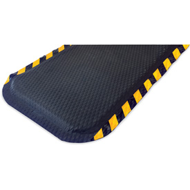 "Hog Heaven Anti Fatigue Mat 7/8"" Thick 46"" W Yellow Border from 3 Ft up to 60 Ft"