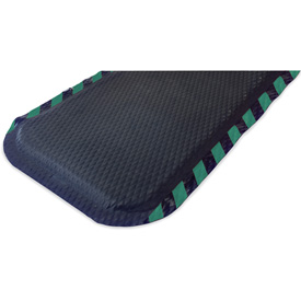 "Hog Heaven Anti Fatigue Mat 7/8"" Thick 46"" W Green Border From 3 Ft up to 60 Ft"