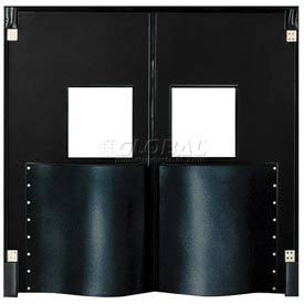Chase Doors Extra HD Double Panel Traffic Door 8'W x 8'H Black DID9696-BK