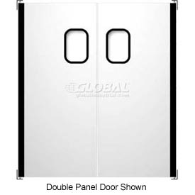 "Chase Doors Stainless Steel Single Panel Impact Traffic Door SSTS4284 3'6""W x 7'H"