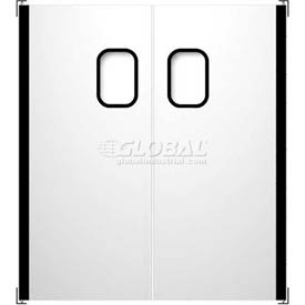 Chase Doors Stainless Steel Double Panel Impact Traffic Door SSTD7296 6'W x 8'H