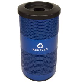 Recycling Trash Can with Bottle & Can Top - 20 Gallon