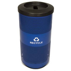 Recycling Trash Can with Paper Slot Top - 20 Gallon
