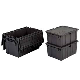 ORBIS Flipak® Distribution Container FP182 - 21-7/8 x 15-1/4 x 12-7/8 Recycled Black - Pkg Qty 6