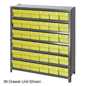 Quantum CL1839-604 Closed Shelving Euro Drawer Unit - 36x18x39 - 54 Euro Drawers Yellow