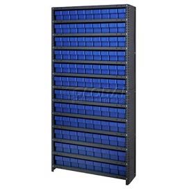 Quantum CL1875-604 Closed Shelving Euro Drawer Unit - 36x18x75 - 108 Euro Drawers Blue