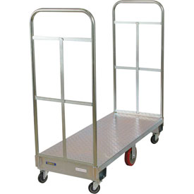 Wesco® Galvanized Steel Narrow Aisle Platform Truck 273295 60x24 1750 Lb.