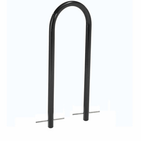 U-Rack Bike Rack, Black, 2-Bike, Below Ground Mount
