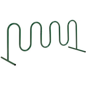 9-Bike Wave Bike Rack, Green, Free Standing
