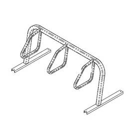3-Bike City Bicycle Rack, Single Sided, Flange Mount
