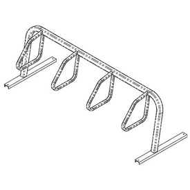 4-Bike City Bicycle Rack, Single Sided, Flange Mount