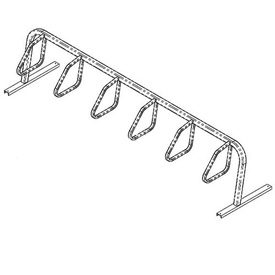 6-Bike City Bicycle Rack, Single Sided, Flange Mount