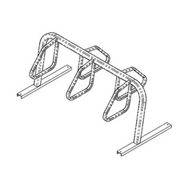 5-Bike City Bicycle Rack, Double Sided, Flange Mount