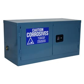 Global&#8482 Stackable Acid Corrosive Cabinet - Manual Close Double Door 15 Gallon - 43x18x22