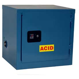 Global™ Stackable Acid Corrosive Cabinet - Self Close Single Door 6 Gallon - 23x18x22