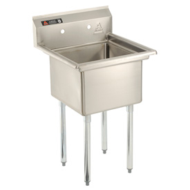 Deluxe SS Non-NSF One Bowl Sink - 18 x 21