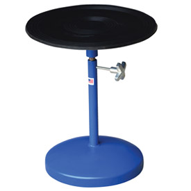 "Vestil Manual 18"" Diameter Pedestal Turntable TT-18-PED 21"" to 32""H 300 Lb. Cap."