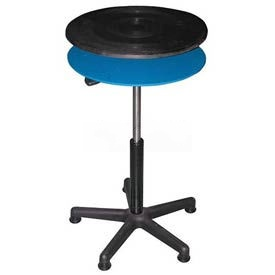 "Vestil Manual 24"" Diameter Pedestal Turntable TT-N-24-CDPED 22-7/8"" to 32-7/8""H 300 Lb."