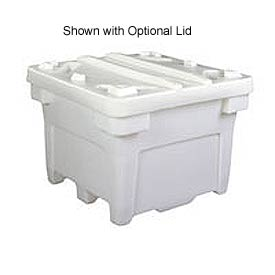 Bonar Plastics FDA Single Wall Bulk Container PC-3028-A001 -42-1/2x42-1/2x33-1/2 1200 Lb Cap Natural