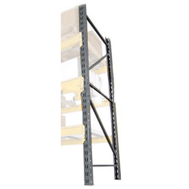 "Husky Double Slotted Pallet Rack Upright Frame 144""H x 42""D"