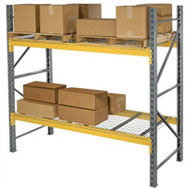 """Husky Rack & Wire L244214455120S Double Slotted Pallet Rack Starter 120""""W x 42""""D x 144""""H"""