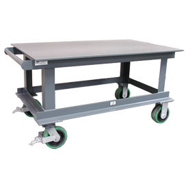 Strong Hold® SC6030/32CA Heavy Duty Portable Steel Table 60 x 30 12,000 Lb.