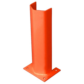 "1/4"" Thick 18"" H Steel Post Protector Orange"