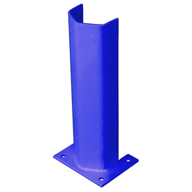 "1/4"" Thick 18"" H Steel Post Protector Blue"