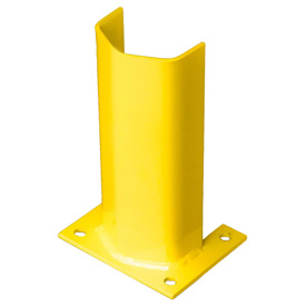"3/8"" Thick 12"" H Steel Post Protector Yellow"